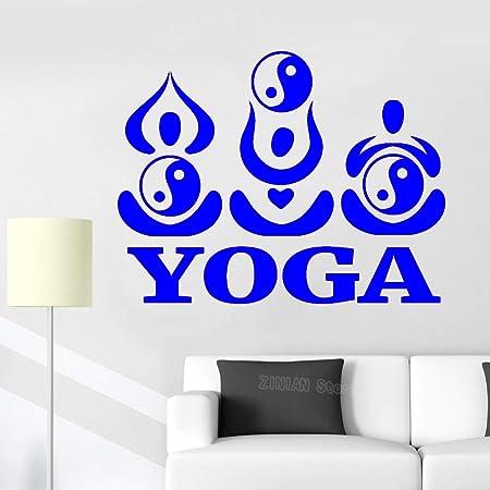 yaoxingfu Creativo Moderno Yoga Pared calcomanía Yin Yang ...