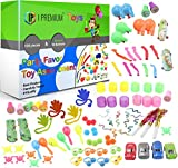 I Premium Big 100 Piece Party Favor Toy Assortment for Kids. 20 Bonus Balloons. Perfect for Fun Birthday Parties, Classroom Rewards, Carnival Prizes, Piñatas. Tested, Safe for Kids. Just Add Summer.