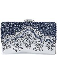 Womens Handmade Glassbeads Embroidery Crystal Rhinestones Evening Bag Party Handbag Clutch Purse
