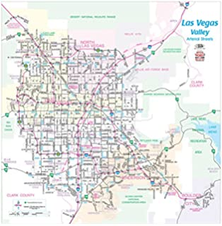 Greater Las Vegas Area Wall Map Gloss Laminated Amazoncom Books