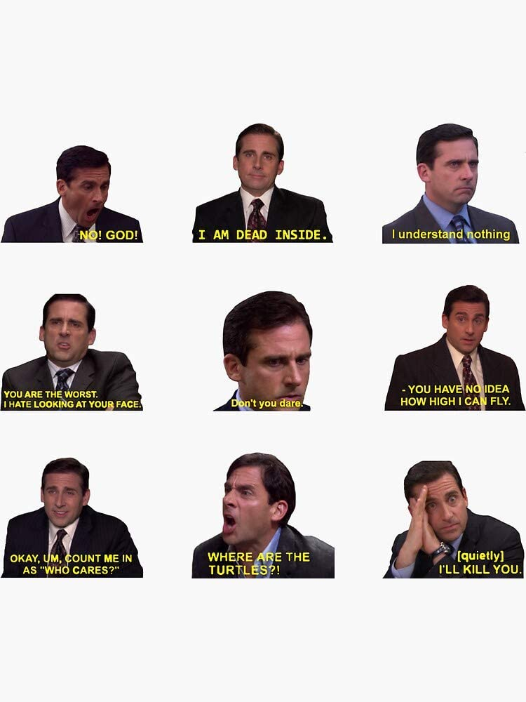 Michael Scott Quotes from The Office Sticker - Sticker Graphic -Stickers for Hydroflask Water Bottles Laptop Computer Skateboard, Waterproof Decal Stickers