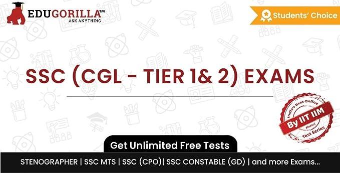 EduGorilla SSC (CGL - TIER 1 & 2) Exam Online Test Series