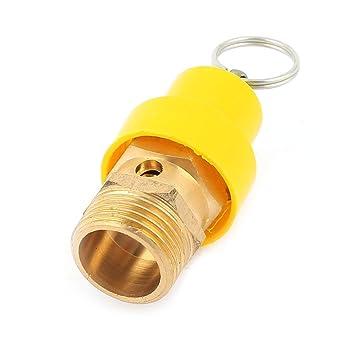 Tono de oro amarillo de seguridad Válvula 1/2 rosca macho PT 8 kg Compresor