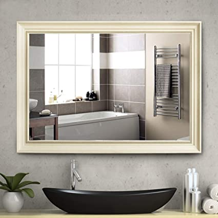 NeuType Large Bathroom Mirrors Wall Mounted Mirrors For Bathroom Bedroom  Living Room,European Style Vanity