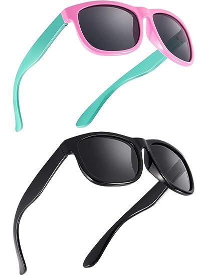 Blulu Gafas de Sol Polarizadas de Niños Flexibles de Goma Gafas de Sol de Niños