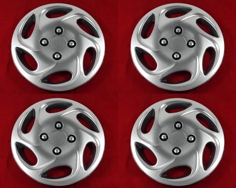 4 unidades Tapacubos - Tapacubos Tapacubos Max pulgadas 14 óptica de aluminio Llantas de Acero: Amazon.es: Coche y moto