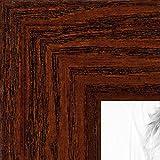ArtToFrames 18x22 inch Walnut Stain on Oak Wood Picture Frame, WOM0066-80206-YWAL-18x22