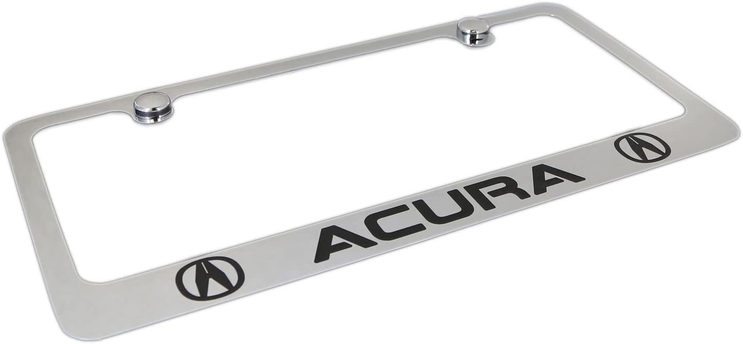 Inc.Chrome License Plate Frame Dual Logo for Acura Elite Automotive Products