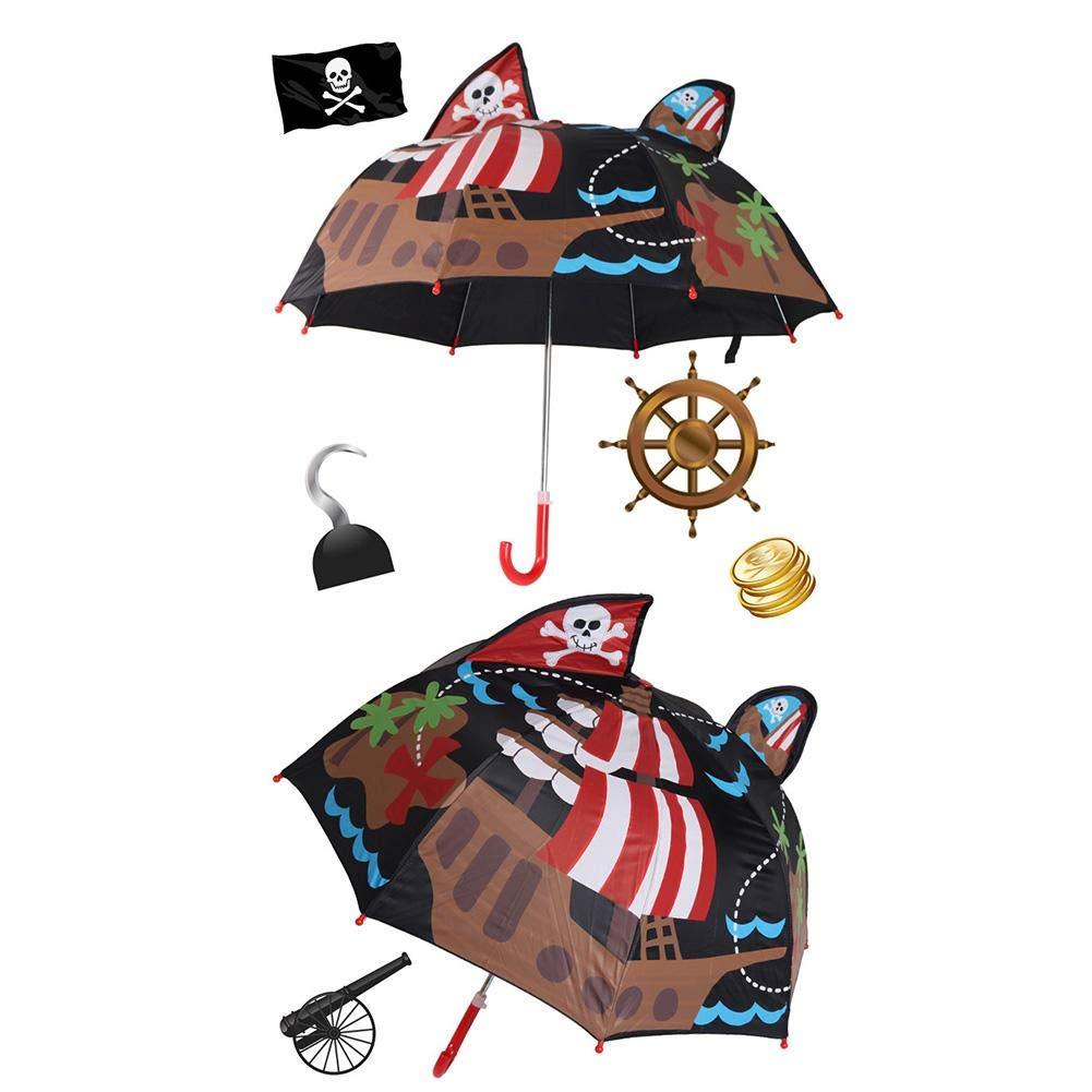 /équipement de Plein air pour Filles et gar/çons Parapluie pour Enfants Parapluie Automatique Coupe-Vent /à Double Usage Miss-an Parapluie pour Enfants Parapluie /à 8 utilisations