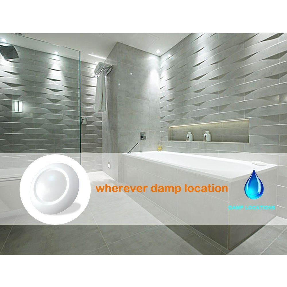 6 Inch Slim Surface & Recessed Mount Round LED Disk Light, 15W, 1000Lumens, CCT 3000K, CRI>80, Dimmable, DOB Design, cETL Listed and Energy Star, WISH LIGHTING, 6 Pack by Wish Lighting (Image #6)