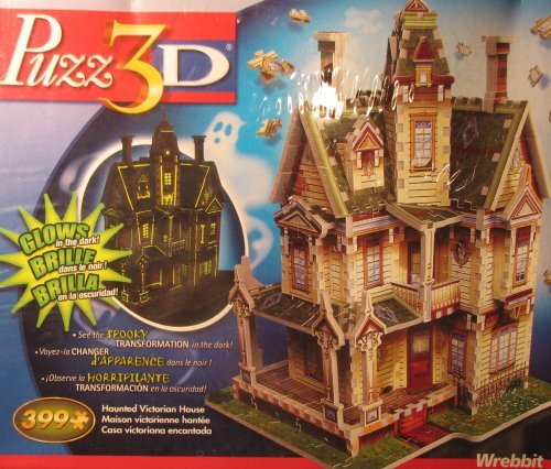 Haunted Victorian House (Glow in the Dark), 399 Piece 3D Jigsaw Puzzle Made by Wrebbit Puzz-3D
