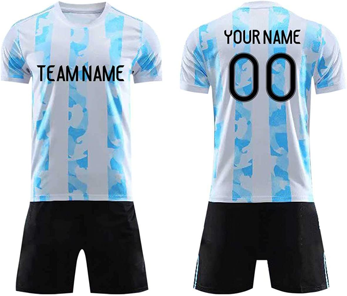 Custom Personalized Your Soccer Jerseys & Shorts,Custom Any Name Number Team Sports Training Uniforms