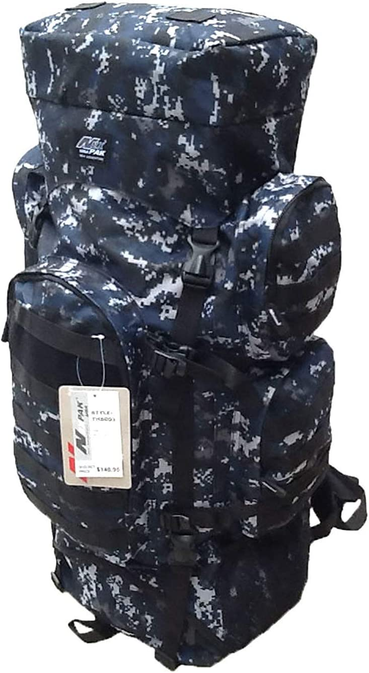 Nexpak 34 5200 cu. in. Tactical Hunting Camping Hiking Backpack THB001 DMBK Digital Camouflage Navy Blue