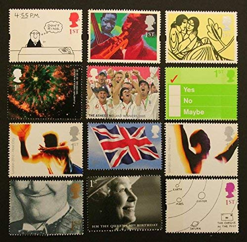 12 x 1st Class (Mixed) Stamps For Postage - Royal Mail Post Office