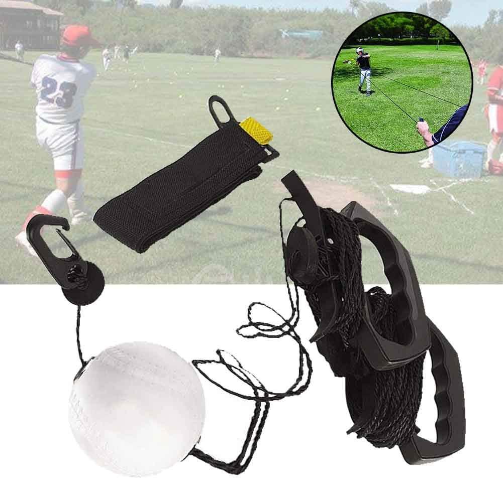 Taille Unique Almabner Entra/înement de Baseball Portable en PU Pas de z/éro Noir
