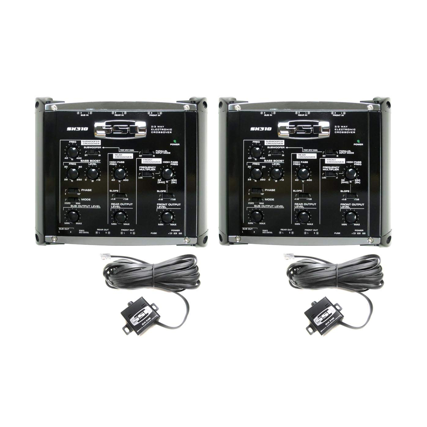 Soundstorm SX310 2/3 Way Electronic Crossover Car Bass Audio w/Remote (2 Pack) by Sound Storm Laboratories