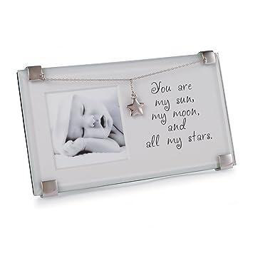 Amazoncom Mud Pie Sun Moon And Stars Clip Frame Baby Keepsake