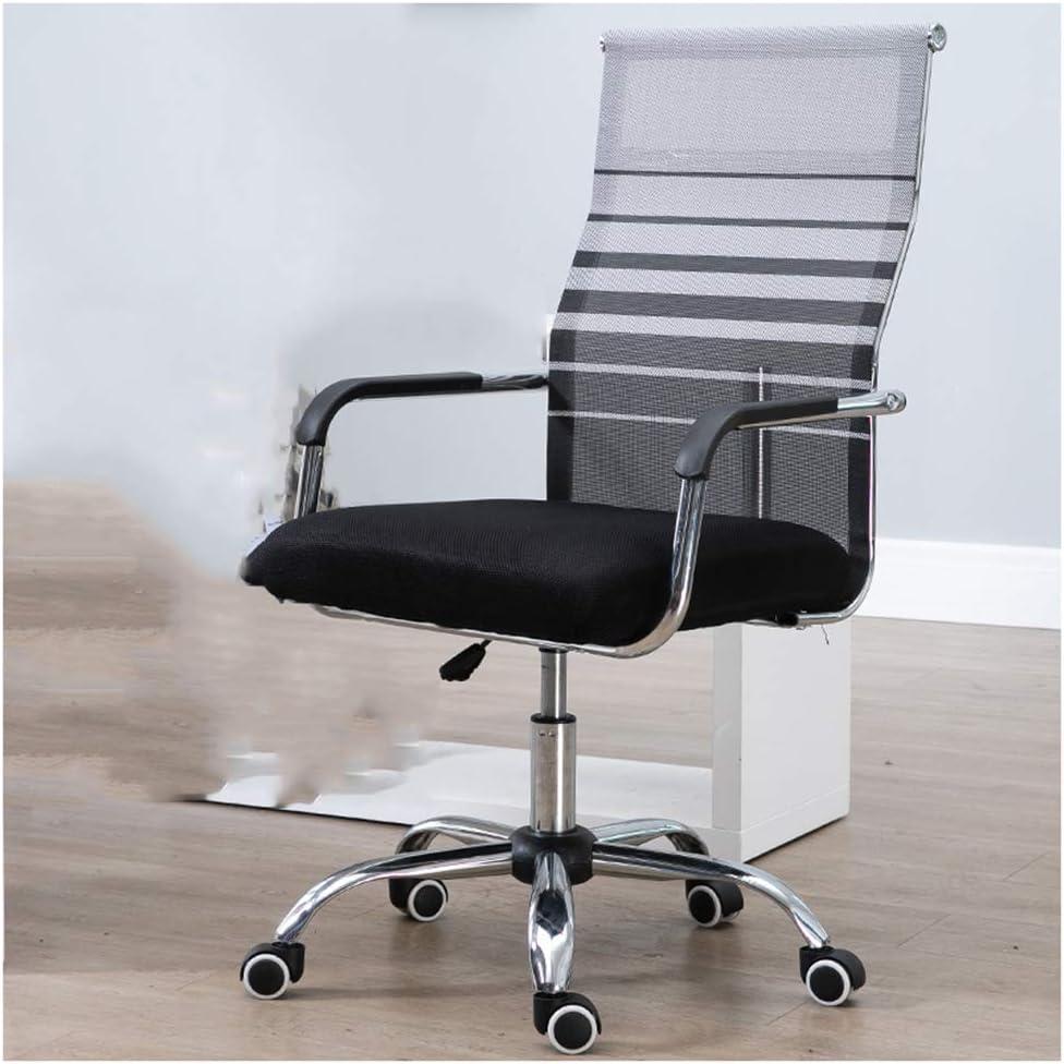 SPAQG 作業椅子、調整可能なスイベルローリング人間工学に基づいたハイバッククッションランバーサポート快適な座席、グレー