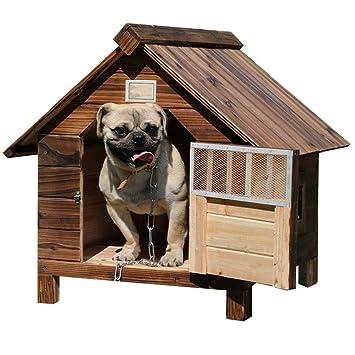 Lonshi Casa de Perro Perrera Jaula para Perros Jaula a Prueba de Agua a Prueba de