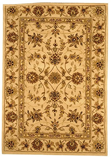 Safavieh Traditions Collection TD602A Handmade Ivory Wool Area Rug (4' x 6') - Tabriz Wool Area Rugs