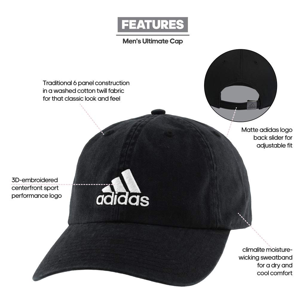 02b2dee6d7 adidas Men's Ultimate Relaxed Cap