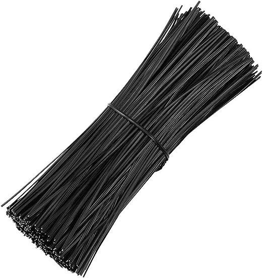 Noir ExeQianming Lot de 200 Attaches de c/âble torsad/ées r/éutilisables en Plastique pour Sangles et Fixation de Sacs c/âbles Fils