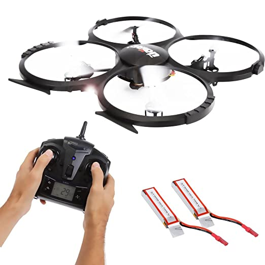 SereneLife RC Drone w/ HD Camera - 6-Axis Gyro Quadcopter Include 2.4 GHz Remote Controller w/ LCD Screen with Extra Battery - Fly & Capture Sharper Aerial Video & Image - SLDR18HD
