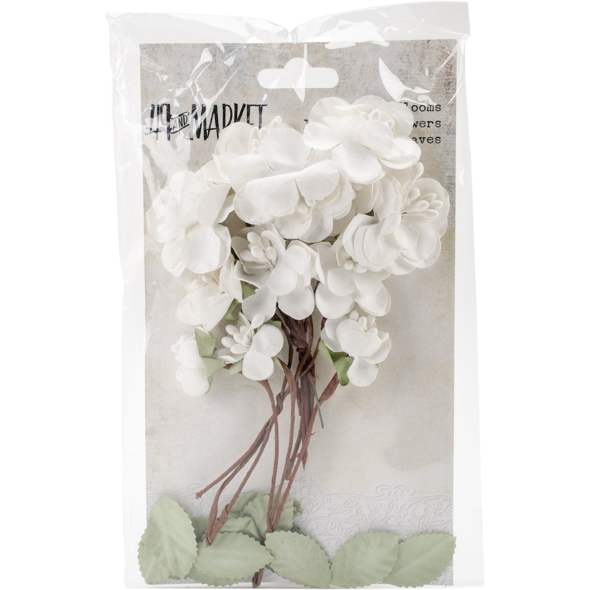 49 and Market GB-4826 Garden Blooms 25/Pkg-Alabaster