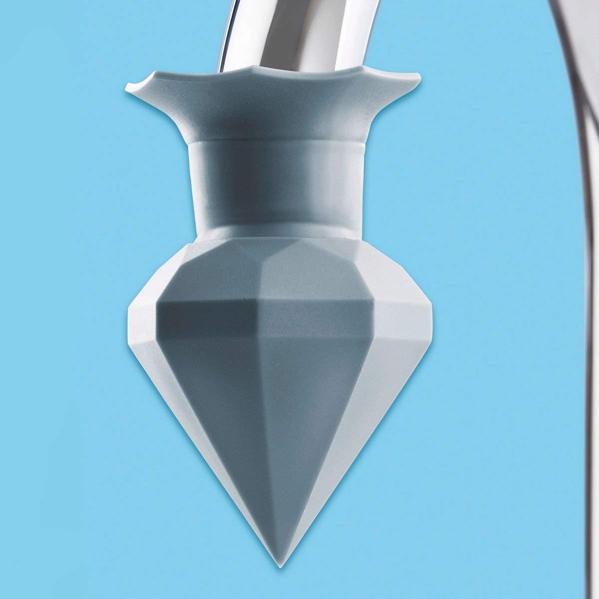 /Ø 5 cm H/öhe 7 cm grau Silikon WENKO Entkalker Diamant Entkalkungsfl/üssigkeit Wasserhahn f/ür handels/übliche Wasserh/ähne Aufsatz zum Entkalkten