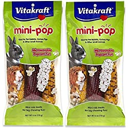 Vitakraft Small Animal Mini-Pop, Mini Cob Treats, 12 Ounce