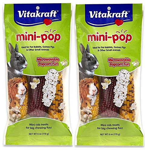 Vitakraft Small Animal Mini-Pop, Mini Cob Treats, 12 (Vitakraft Small Animal)