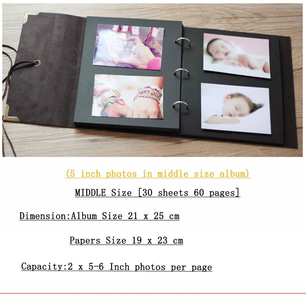 Fotoalbum Zum Selbstgestalten Leder Fotobuch Zum Einkleben Retro