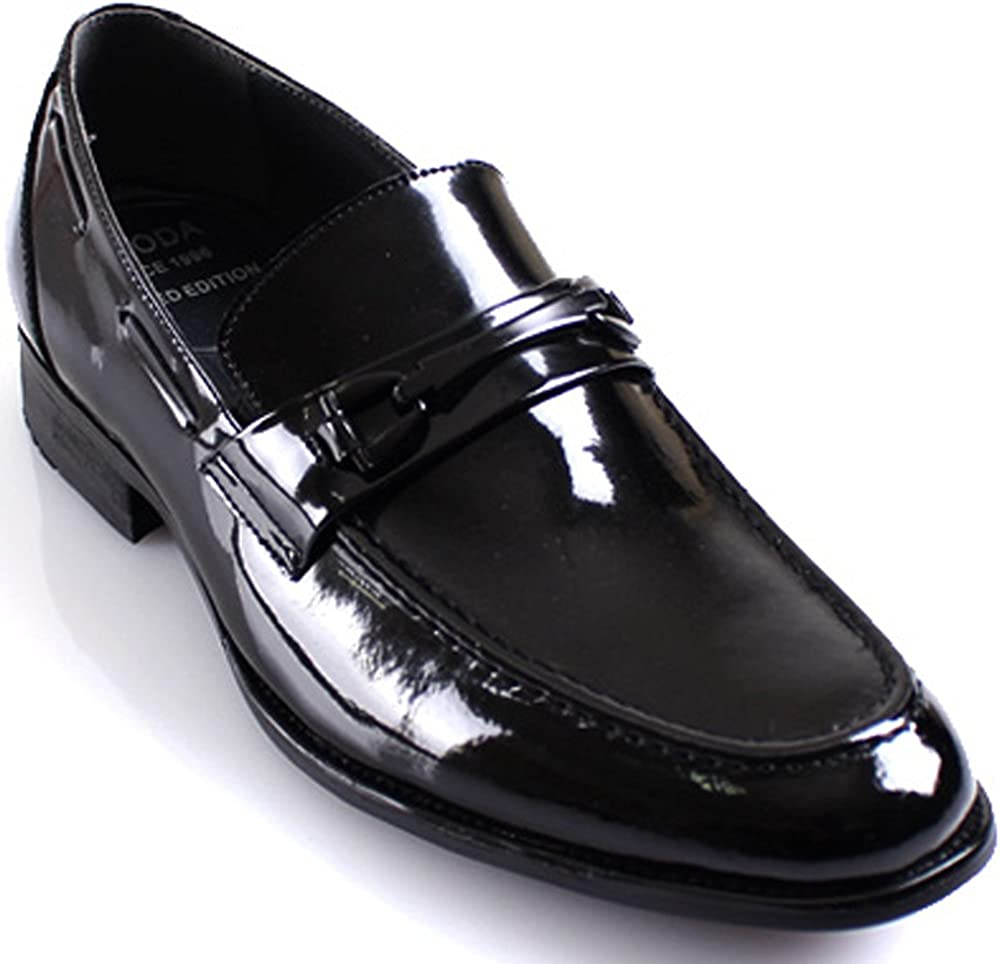 JustOneStyle New Mooda Basic Slips on Formal Loafers Leather Men Lace Dress Shoes