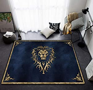 3D Print Optical Illusion Areas Rug Carpet Floor Pad Non-Slip Doormat Mats for Bedroom Living Room Polyester Made Area Carpet Home,Lion,80x120cm/32 x48