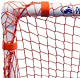 Park & Sun Sports Indoor/Outdoor Nylon Slip Net with Bungee Cord Frame: Multi-Sport Goal, Orange, 6' W x 4' H x 3' D