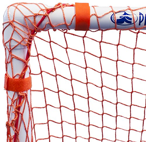 Park & Sun Sports Bungee-Slip-Net Replacement Nylon Goal Net: Soccer/Multi-Sport Goal, Orange, 8' W x 6' H x 4' D