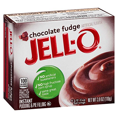 JELL-O Chocolate Fudge Instant Pudding & Pie Filling Mix (3.9 oz Boxes, Pack of 6) - Instant Chocolate Pudding