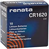 10 x Renata 1620 Watch Batteries, 3V Lithium CR1620, Plus Many More Battery Sizes Available