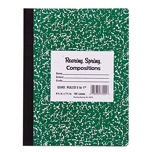 Roaring Spring Hard Cover Composition Book