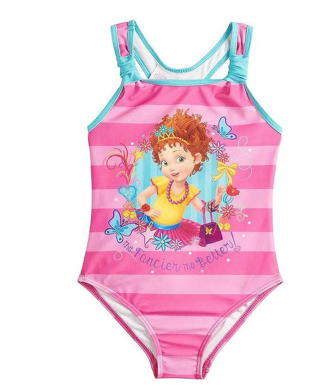 bd18ba1926 Amazon.com: Fancy Nancy Girls Swimsuit One Piece Size 5/6 Little Kids Pink:  Clothing