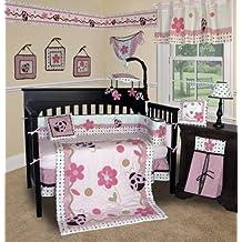 Custom Baby Girl Boutique - Lady Bug 14 PCS Crib Bedding Include Lamp Shade