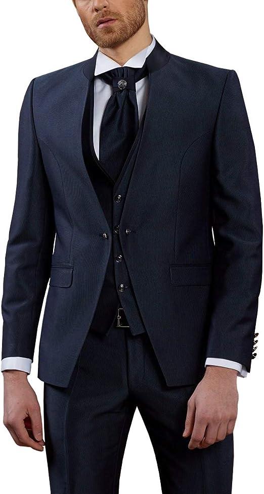 MMUGA Elegante traje de boda a rayas de 4 piezas: Amazon.es ...