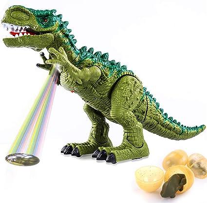 Electric Kids Children Toy Walking Dinosaur T-Rex Figure Toy With Light Sound
