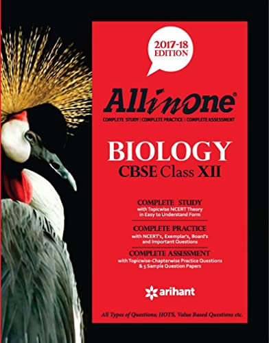 All in One BIOLOGY CBSE Class 12th Edition 2017-18.