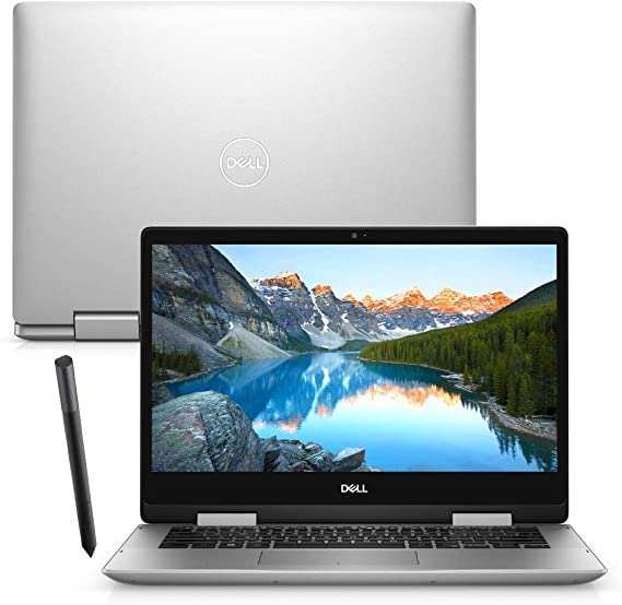 "Notebook 2 em 1 Dell Inspiron i14-5491-A30S 10ª Geração Intel Core i7 8GB 256GB SSD Placa vídeo NVIDIA Full HD 14"" Touch Windows 10 + Caneta"