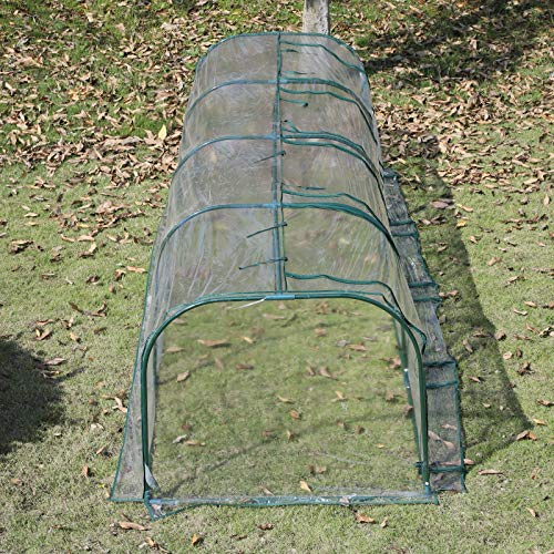 Outsunny 13' L x 3.25' W x 2.5' H PVC Metal Tunnel Cloche Garden Greenhouse Kit by Outsunny (Image #4)