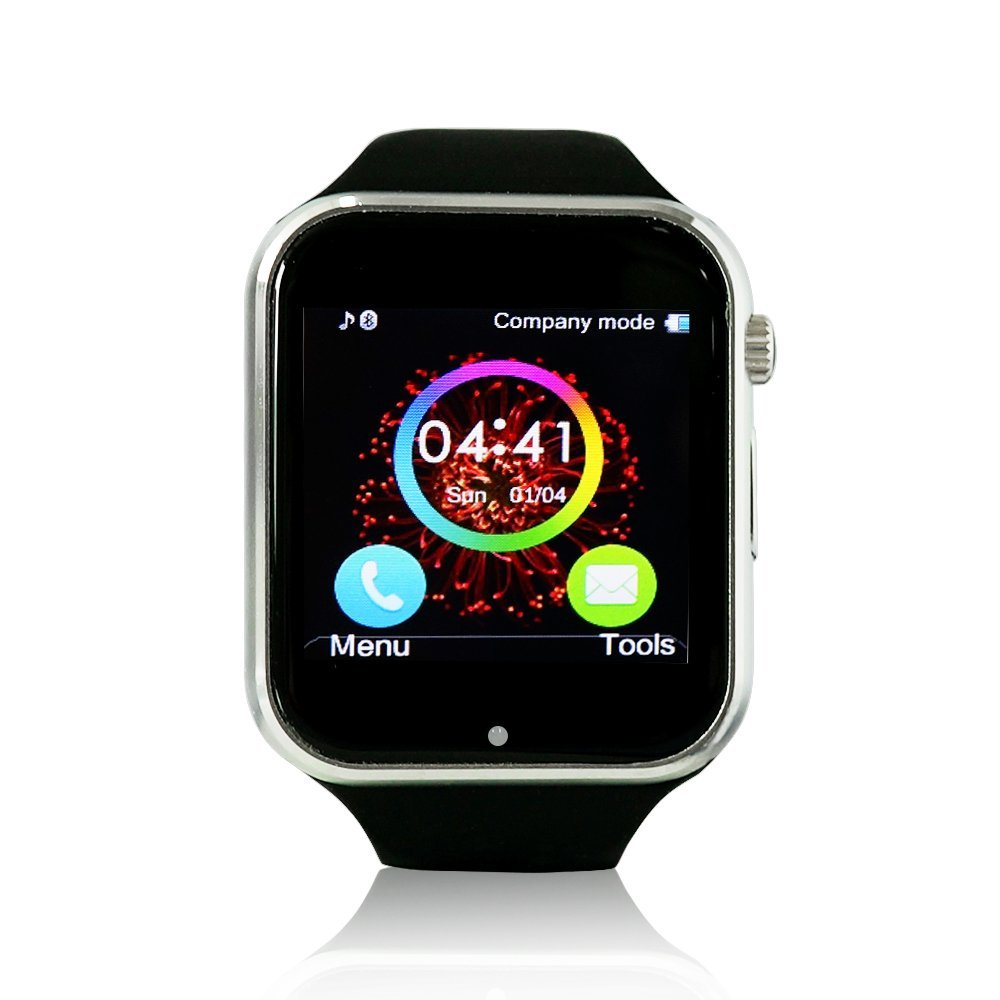 CLZZ K9 Watch Bluetooth 3.0 Smart Watch Sport Watch Wearable Devices Smart Health Smart Electronics with Camera Touch Screen For IOS Apple Iphone 5s /6/6 Plus Android S4/S5/Note 2/Note 3 HTC Black