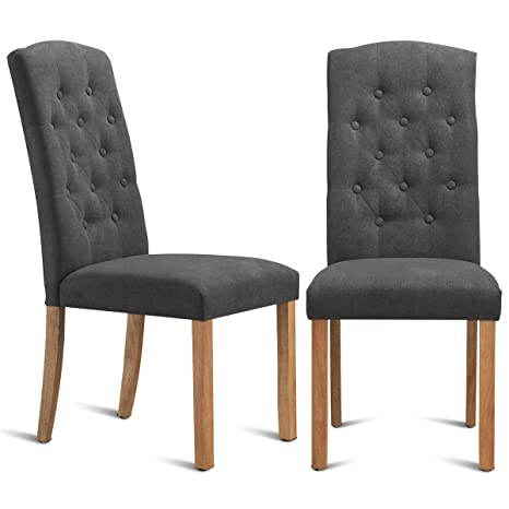 Magnificent Costway Set Of 2 Dining Chairs Ergonomic Design Pu Leather Upholstered Wear Resistant Armless Leisure Chair With Foot Pads For Home Office Kitchen Dailytribune Chair Design For Home Dailytribuneorg