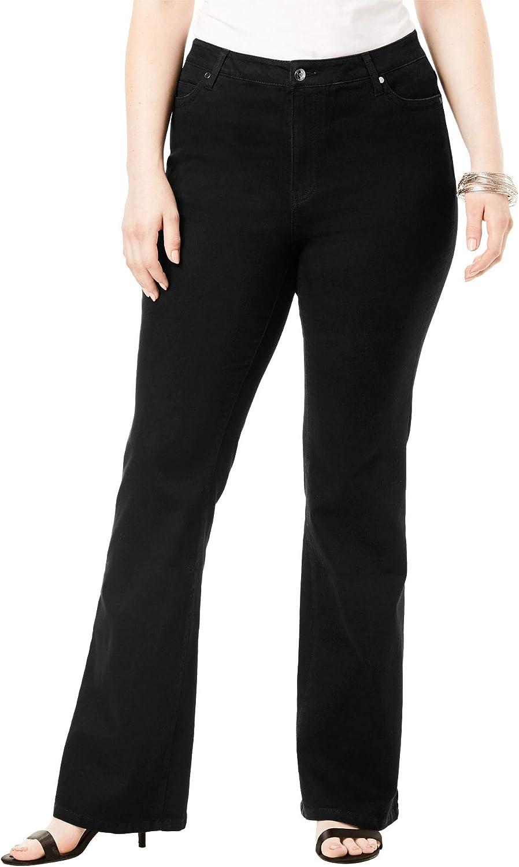Roamans Women's Plus Size Flared-Leg Jean by Denim 24/7