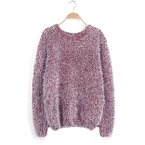Casual Sweater Longues Manches Taille Lache Pull Tricot Loose Femme Wenyujh Chandail Grande D qwBOPOWg
